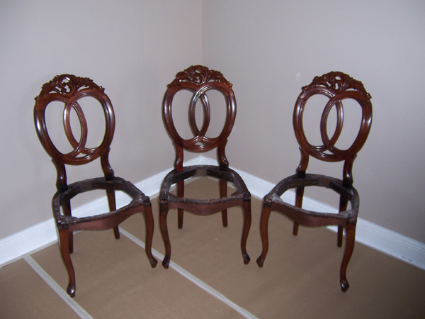 Potts Antique Balloon Back Chairs